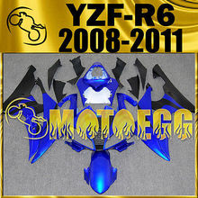 Motoegg Injection Fairing Fit YZF-R6 YZF R6 2008-2011 Blue Black Y68M18 + Tank   Motorcycle plastic