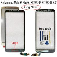 Shyueda-100% original para Motorola Moto E5 Play Go XT1920-15, pantalla táctil de cristal frontal exterior de 5,3 pulgadas, XT1920-18