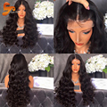 Ponytail Lace Front Wig Virgin Human Hair Lace Front Wigs Black Women With Baby Hair Brazilian Body Wave Glueless Full Lace Wigs