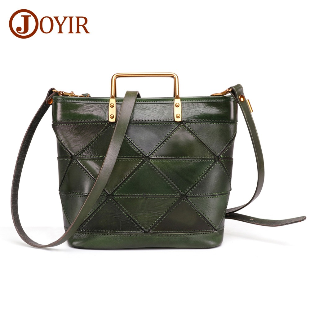 JOYIR Real Cow Leather Ladies HandBags Women Genuine Leather Bag Casual fashion Classic Totes Messenger Bags