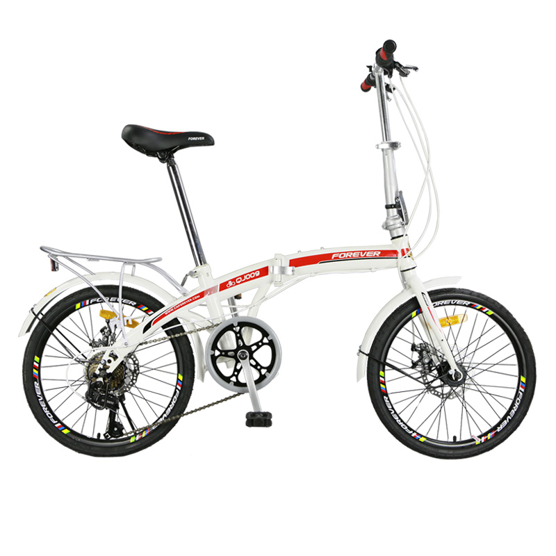 High Carbon Steel Disc Brake Folding Bicycle Ultralight 20 Inches For Men And Women