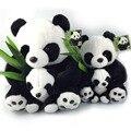 25 см сидят панды плюшевые игрушки мать и детеныша панды фаршированные куклы мягкие подушки детские игрушки специальное предложение бесплатная доставка NT029B