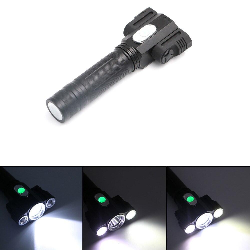 Creative Design 3 Leds Flashlights 4 Modes 2 small light 360 degreen rotation lamp light with