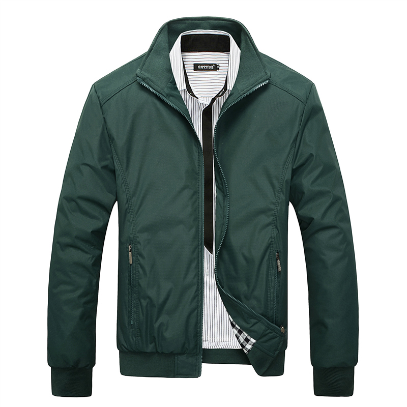 Spring Autumn Fashion Men Jacket Stand Collar Big Size M-5XL Slim Fit Casual Business Jackets Men Simple Classical Leisure Coats