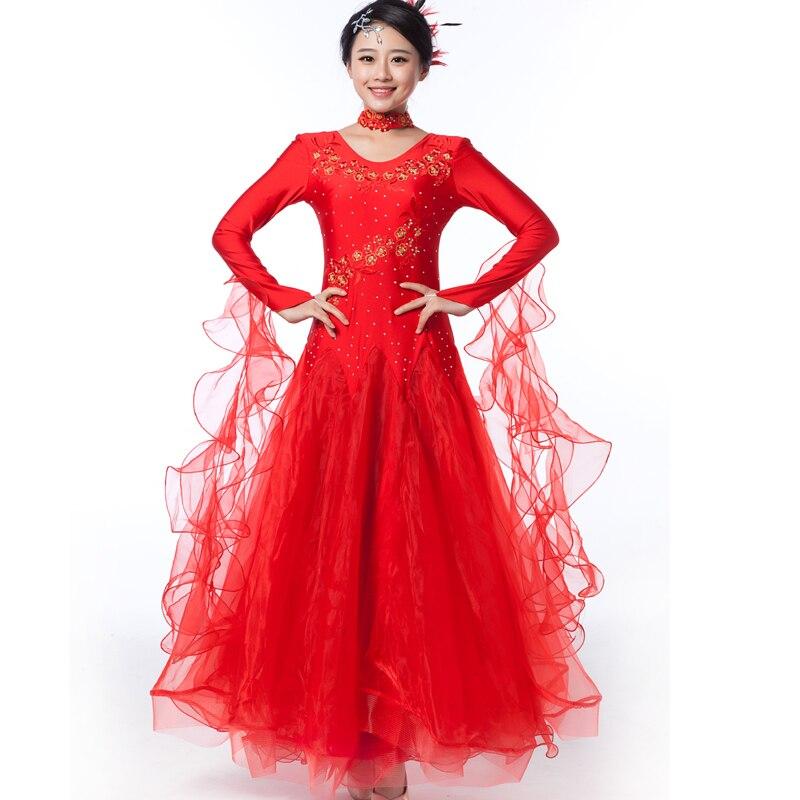 Nuevo estilo de doble hombro para mujeres, salón de baile, vals, - Ropa de danza y vestuario escénico - foto 1