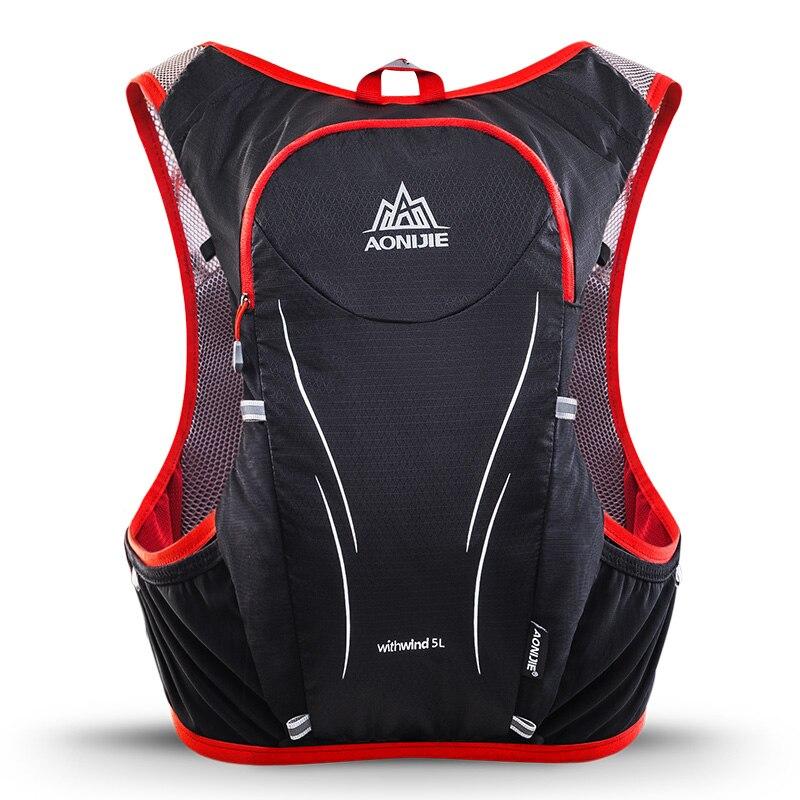 AONIJIE Sports de plein air Trail Running sac à dos 5L Marathon gilet d'hydratation Pack pour 1.5L sac à eau Super léger vélo randonnée sac - 4