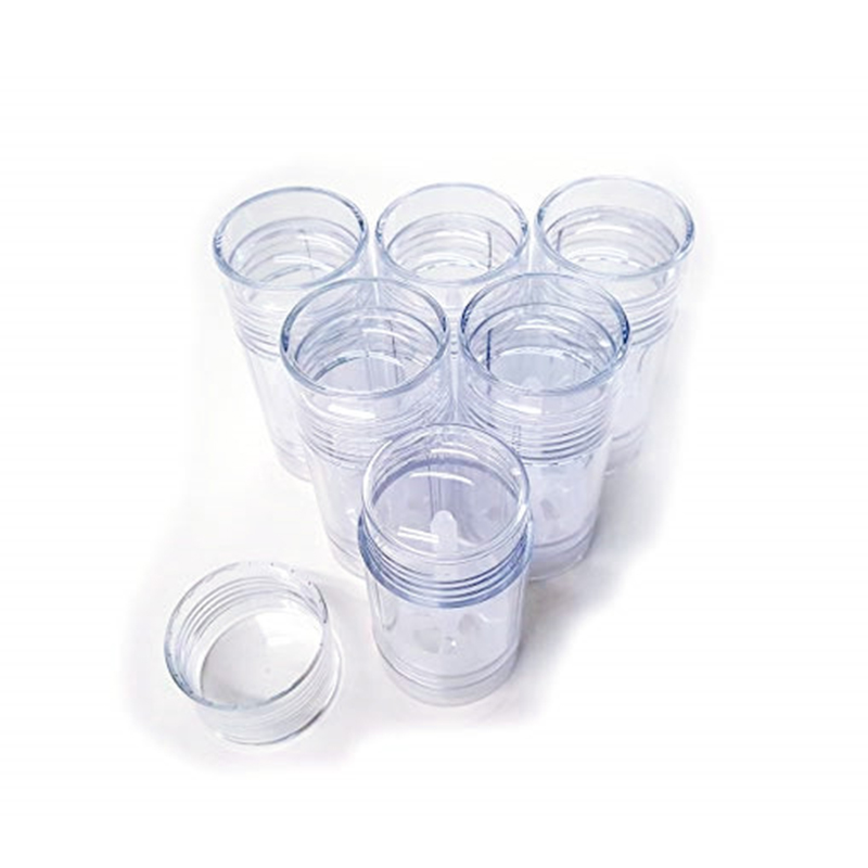 Купить с кэшбэком Free shipping 10pcs/lot 30ml 1oz Clear Twist-up deodorant container Transparency push tubes for solid deodorant or bar lotion