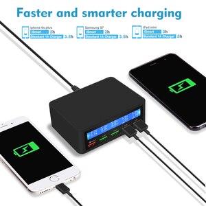 Image 2 - 50 w 빠른 충전 3.0 5 포트 usb 충전기 어댑터 아이폰에 대 한 휴대 전화 빠른 충전기 삼성 xiaomi 태블릿 충전기 역 플러그