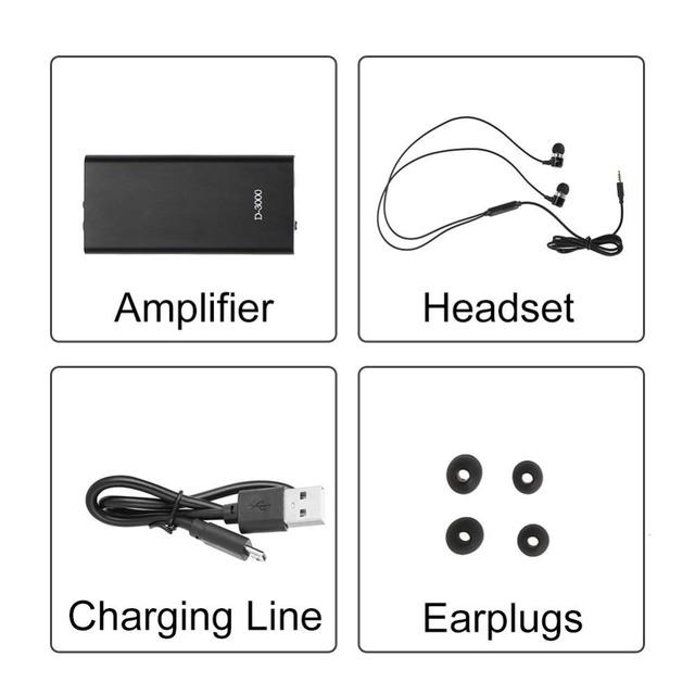 Sound Amplifier Bone Conduction Headphones Adjustable Volume Earphones Ear Care Tools For MP3 Deaf Elderly Noise Sound Blocking