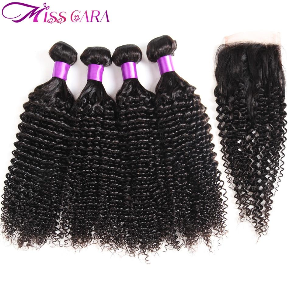 Malezyjski kręcone włosy 3/4 wiązki z bezpłatnym/środkowa część zamknięcia 100% człowieka wiązki włosów z zamknięciem panna Cara Remy włosy włosy do przedłużania w 3/4 pasma z siateczką od Przedłużanie włosów i peruki na AliExpress - 11.11_Double 11Singles' Day 1