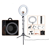 Fusitu 18 RL 18 Dimmable Photographic Light LED Ring Light with Tripod Stand Ring Lamp For DSLR Camera Phone YouTube Video