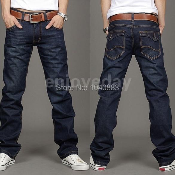 Aliexpress.com : Buy Korea Men's Slim Fit Classic Jeans Trousers ...
