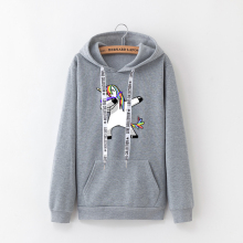 2019 winter new Harajuku women hoodies Pop print Unicorn cas