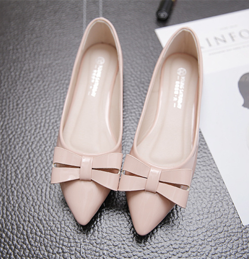 Brand New Fashion Casual Loafers Sweet Pink White Women Flats Solid Summer Style Shoes Woman 5 Colors ballet flats fashion pointed toe women shoes solid patent pu brand shoes women flats summer style ballet princess shoes for casual crystal