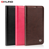 QIALINO Phone Cases For Samsung Galaxy S7 Edge G935 Cover Genuine Cowhide Leather Case Skin Protector