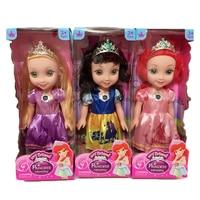 3 סגנונות קפוא אלזה אנה נסיכת דיסני בובת 14 Inch שירה זוהר קרח ושלג נסיכת בובות לילדים חג המולד מתנה