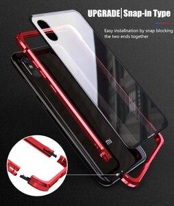 Image 3 - OMEVE For Xiaomi Mi 8 Case Mi8 Pro Case Tempered Glass Back Cover Alloy Metal Frame Bumper for Xiaomi Mi 9 8 9T Pro Mi9 Cases