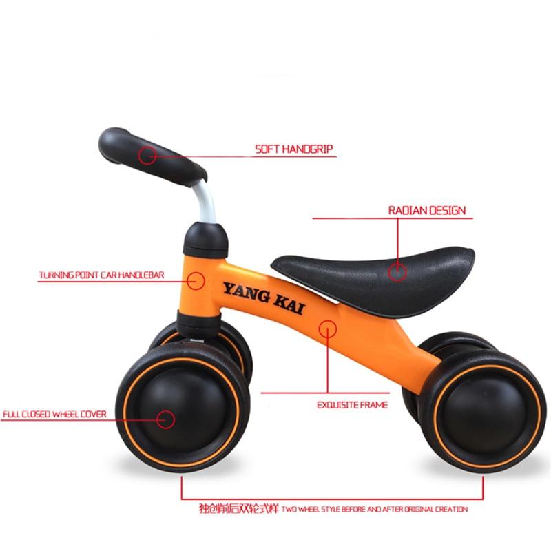 Детская качающаяся автомашина От 1 до 4 лет подарок на день рождения ребенка Twist lertwist Ride On Car Toys четыре колеса ручной игрушечный автомобиль Детский спортивный ходунк - 4