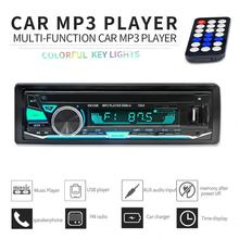 12V 1 DIN Bluetooth 7 Color Light Car Stereo FM Radio MP3 Audio Player Support Hands-free Calls Aux Input / SD / USB / MP3 стоимость