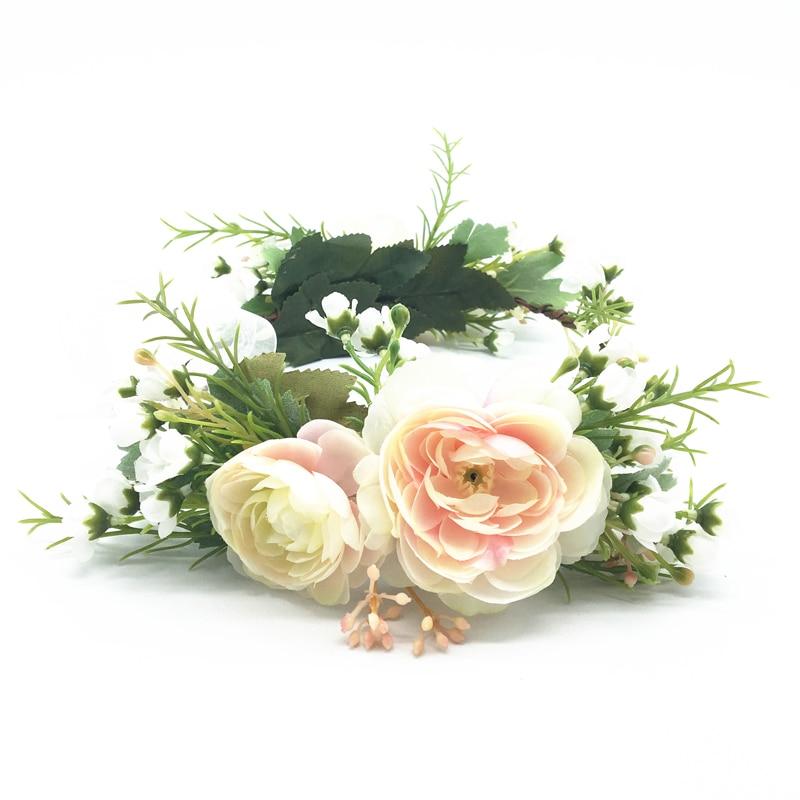 Festival Flower Crown Bride Wedding Party Hair Accessories Girl Flower Wreath Headband Floral Garlands Women Headdress Ornaments