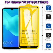 Safety Glass for Huawei Y5 2019 Tempered Glass Cover for Huawei Y5 Full Glue Protective Glass Film on Y 5 5Y AMN-LX9 5.71""