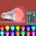 Novelty Light Bulb Indoor LIghting Multi-colors 5W B22 AC 85-265V RGB LED Light Bulb Lamp Color Changing+IR Remote Control