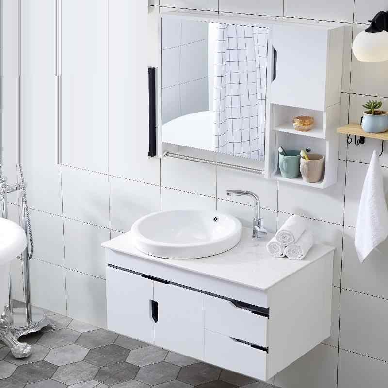 ... Lavabo Dolap D Zenleyici Schoenenkast Toilette Banyo Dolaplar Vanity  Meuble Salle De Bain Banheiro Mobile Bagno ...