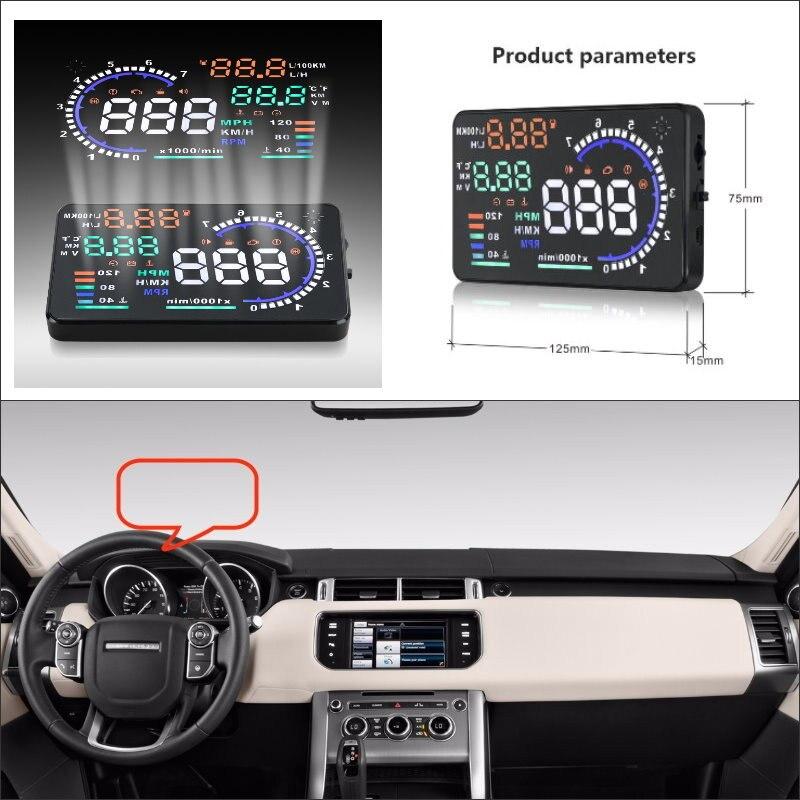 Car HUD Head Up Display For Land For Rover Range Rover SVR 2015 2016 Safe Driving