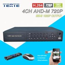 TEATE AHD-M 720 p 4ch CCTV DVR Sistema de Gravador de vídeo de cftv HDMI 1080 p de Saída 4 canais para o sistema de segurança da câmera AHD kit T-G04D7PB05