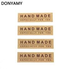 160 pcs 1.5x5.5 cm Kraft Etiqueta Da Etiqueta DIY Feito À Mão Bolo Baking Vedação Especial Para Você Para O Presente adesivos