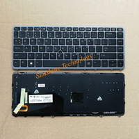 New US backlit keyboard with frame for HP EliteBook 840 850 G1 G2 ZBook 14 762758 001 NSK CP3BV English grey