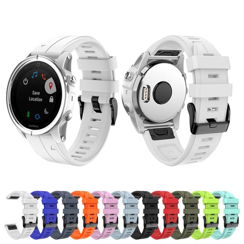 20mm Silicone Watch Band Strap Loop Wristband for Garmin Fenix 5S Fenix 5S Plus SD998