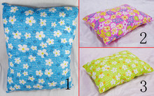 Wholesale Pet Dog Bed cushion Flower pattern Pink Blue Yellow