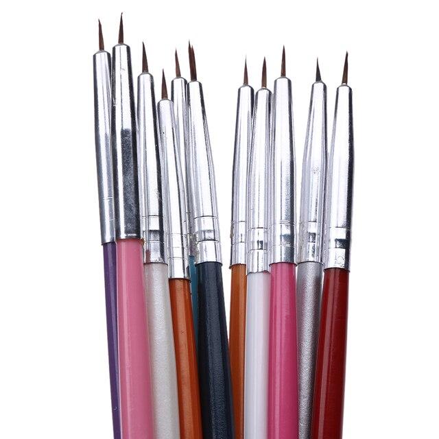 12Pcs/Set Nail Art Pen Brushes Drawing Dotting Brush Tools Kit ...