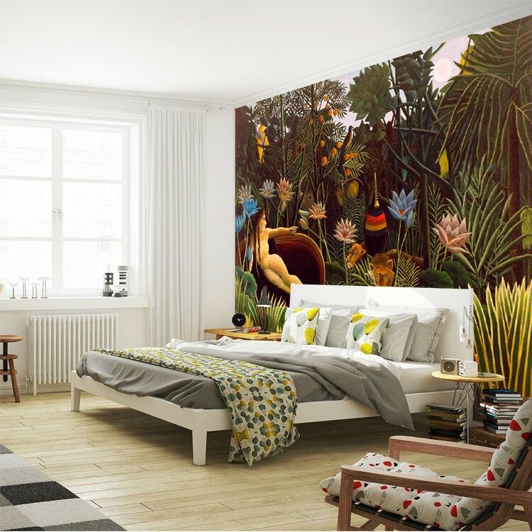 Die Traum Wandmalereien Rousseau Gemälde Tapete Kundenspezifische 3D ...