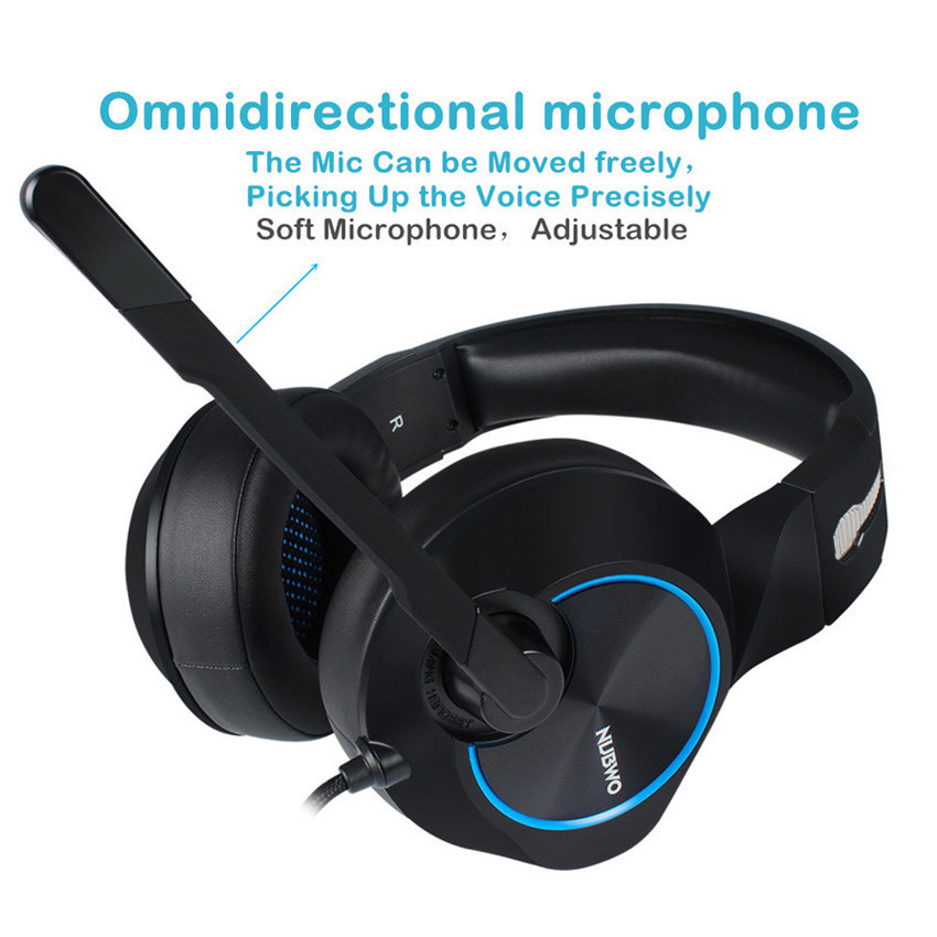 Gaming Headset 7.1 Channel Wired USB Headphones w/ Mic, Volume Control & LED  1