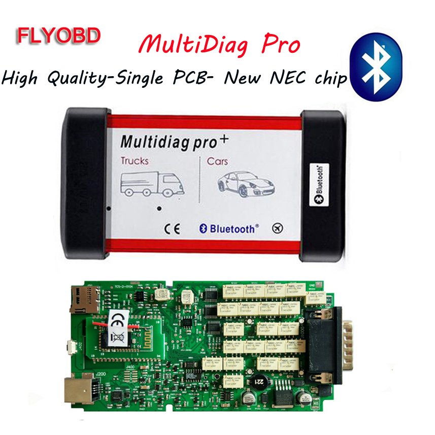 Best Quality tcs cdp pro plus bluetooth single green board multidiag pro with 2015.R3 keygen for car/truck OBD2 diagnostic tool