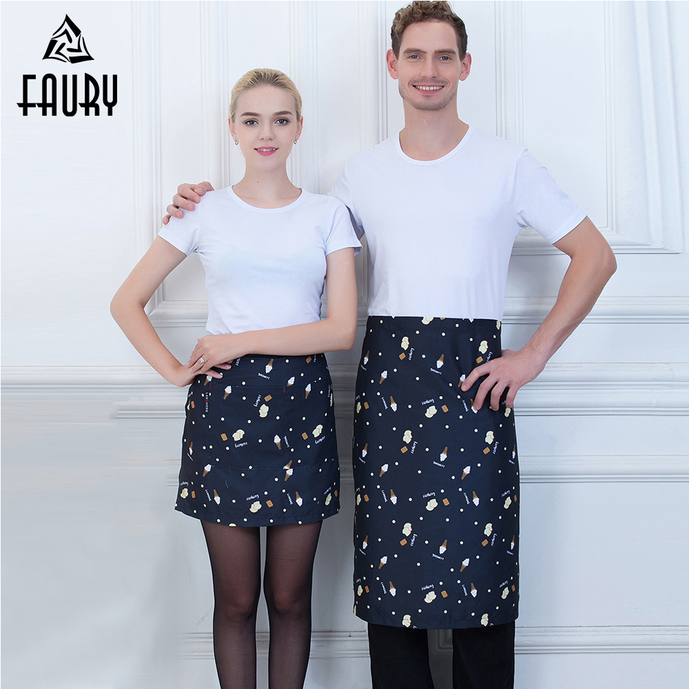 Wholesale Half Apron Food Service Restaurant Catering Cafe Bakery Chef Waiter Kitchen Cooking Cleaning Home Work Wear Uniform