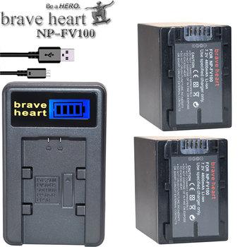 Bateria NP FV100 NP-FV100 FV100 Battery Batteries for Sony NP-FV30 NP-FV50 NP-FV70 SX83E SX63E FDR-AX100E AX100E HDR camera фото
