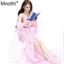 Mnotht 1/6 Женская одежда для солдат модель VS017 Сексуальная древний длинная юбка; Цвет розовый, красный, зеленое платье для детей возрастом от 12