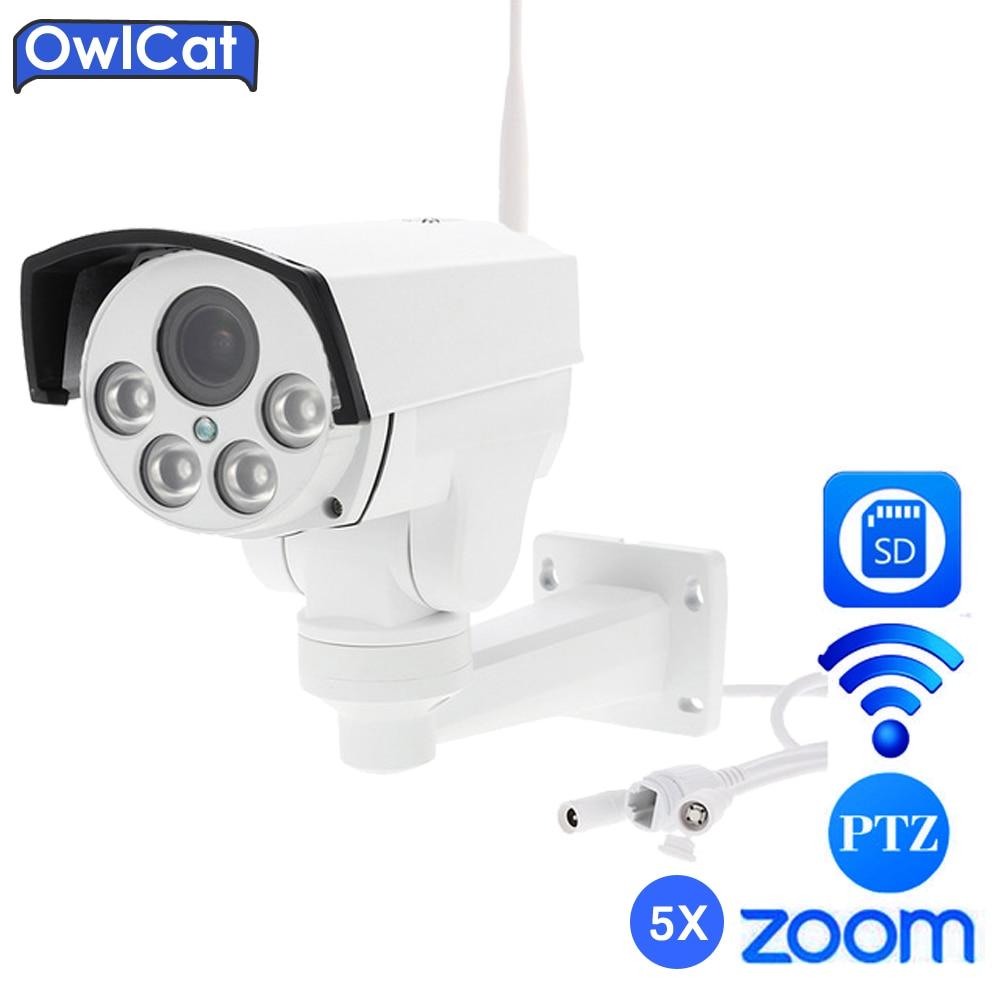 Owlcat Sony HD 1080P 960P Outdoor PTZ Wireless IP Camera WIFI Network 5X Zoom Auto Focus 2.7-13.5mm 2MP IR Onvif SD Card Slot wistino 1080p 960p wifi bullet ip camera yoosee outdoor street waterproof cctv wireless network surverillance support onvif