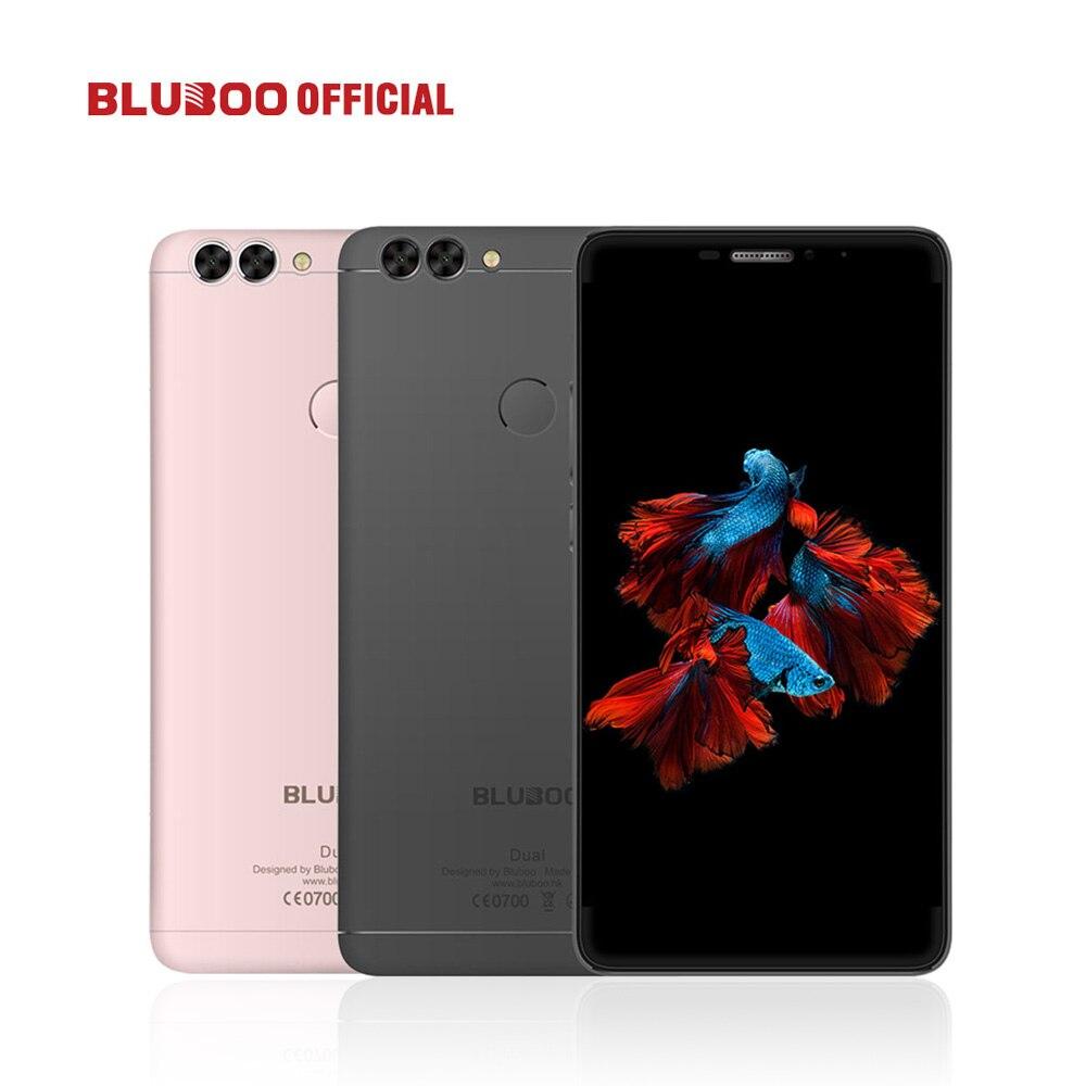 BLUBOO Double 5.5 FHD 4G LTE Smartphone MTK6737T Quad Core 2G RAM 16G ROM Android 6.0 13MP Double Caméra Arrière 3000 mAh Mobile Téléphone