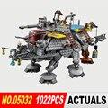 Лепин 05032 Звездных Войн серии Капитана рекса AT-TE модель Building Blocks набор Классический Совместимые игрушки 75157 Подарки