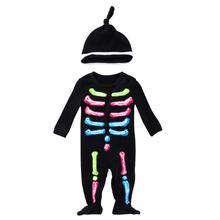 Halloween Twin Baby Boy Girl Matching Neon Skeleton Bodysuit