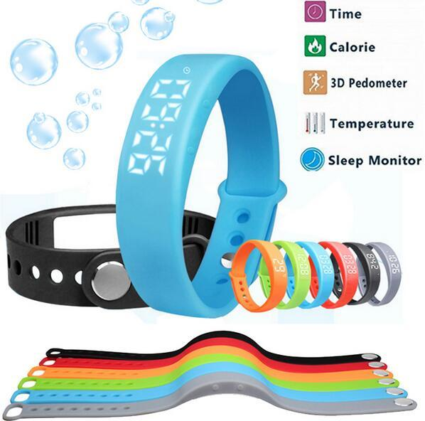 Smart Fitness Watch W5 Smart Wristband No Need Connect with Phone Pedometer Sleep Tracker Thermometer / Time Display Bracelet