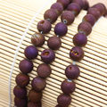"""Wholesale Purple Plating Agate, Smile Agate Round Beads15"""",For DIYJewelry making!We provide mixed wholesale for all items !"""