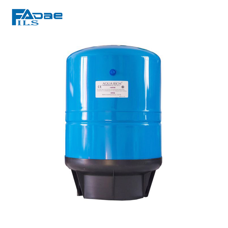 Water Filter System Vertical Pressure Tank with Composite Base, 11-Gallon Capacity, Blue Color 1 2 built side inlet floating ball valve automatic water level control valve for water tank f water tank water tower