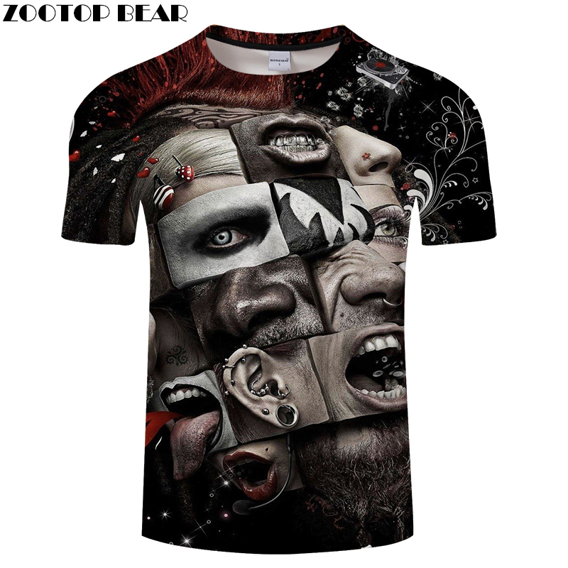 Feature 3D t shirt Men tshirt Pattern T-Shirt Summer Casual Tops Short Sleeve Tees O-neck Streetwear Male Drop Ship ZOOTOP BEAR