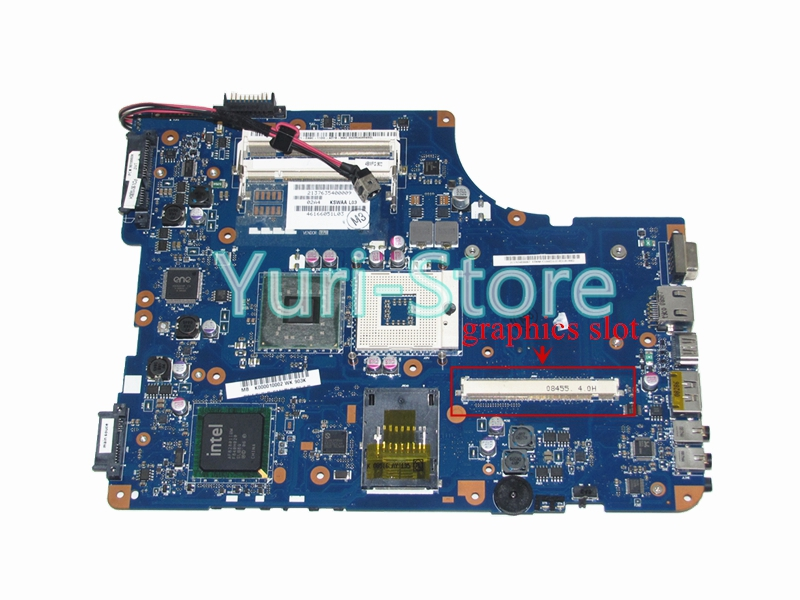 NOKOTION KSWAA LA-4981P For Toshiba Satellite A500 L500 L505 K000010002 Main Board PM45 DDR2 with Graphics Slot k000078990 motherboard for toshiba satellite l550 l555 la 4981p kswaa use ddr2 ram tested good