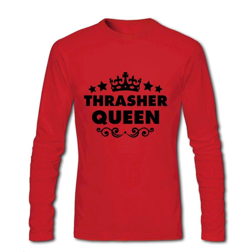 Shirt design unique - Thrasher Queen Shirt Design Unique T Shirt Couple Long Sleeve Cotton Big Size China